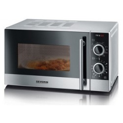 Severin micro-ondes mw 7874, fonction grill, inox/noir