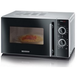 Severin micro-ondes mw 7875, fonction grill, inox/noir