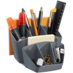 Cep multipot à crayons ceppro, 8 compartiments, gris