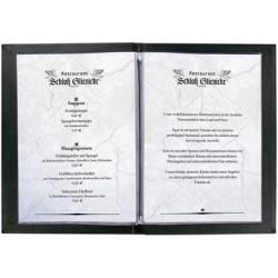 Sigel chemise pour carte de menu, a5, noir, reliure à