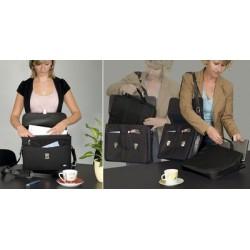 Wedo serviette porte-documents elegance, simili cuir/nylon,