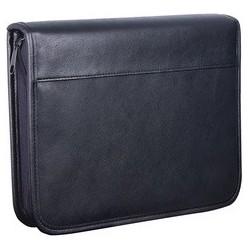 Wedo porte-documents, format a5, en similicuir, noir