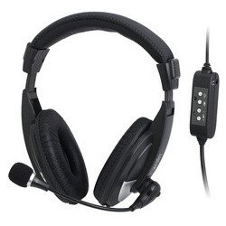 Logilink casque stéréo usb avec microphone, noir