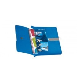 Herlitz chemise de rangement easy orga to go, bleu opaque