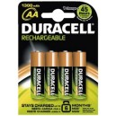 Duracell nickel-metall-hydrid akku rechargeable, mignon aa