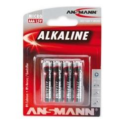 """Ansmann alkaline batterie """"red"""", micro aaa, 4er blister"""
