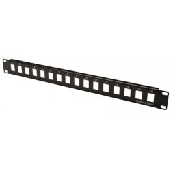 "Digitus 19"" modular patch panel leergehäuse, 16 port"