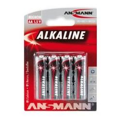 """Ansmann pile alcaline """"red"""", mignon aa, blister de 4"""