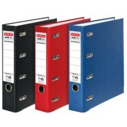Herlitz double classeur max.file en pp, dos: 70mm, rouge
