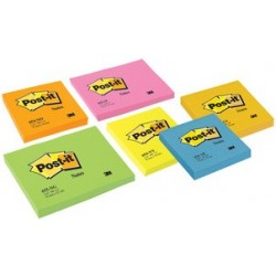 3m post-it bloc-notes, orange néon,76 x 76 mm,