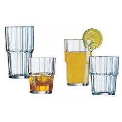 """Esmeyer verre de jus """"norvege"""", 0,25 litres, empilable (LOT DE 6)"""