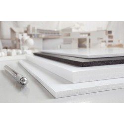 Transotype carton plume foam boards, 500 x 700 mm,blanc,10mm