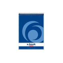 Herlitz bloc-note à spirale x.book, a6, 100 pages, quadrillé