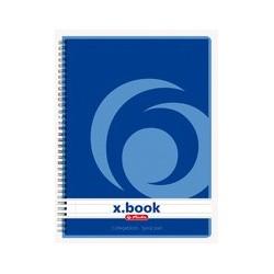 Herlitz cahier à spirales x.book a5, 160 pages, quadrillé