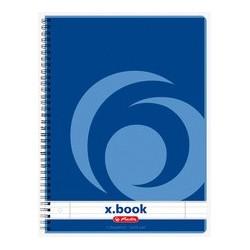 Herlitz cahier à spirales x.book, a4, 160 pages, quadrillé