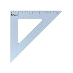 Maped equerre cristal 60 degrés, longueur côté de l'angle
