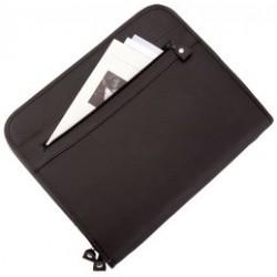 "Alassio portfolio ""milano"", format a4, simili cuir, noir"