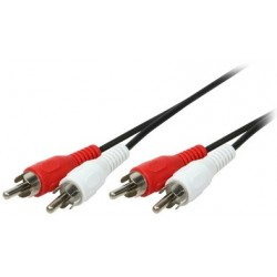 Logilink audiokabel, 2x cinchstecker - 2x cinchstecker, 5 m