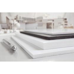 Transotype carton plume foam boards, 700 x 1.000 mm,noir,5mm