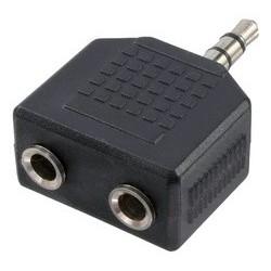 Logilink adaptateur audio, connecteur jack - 2x prise jack