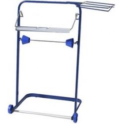 Fripa dérouleur pour rouleaux d'essuyage, en métal, bleu