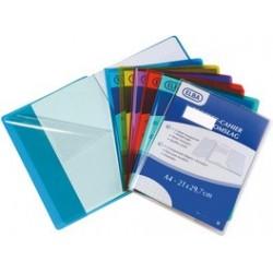 Elba protège-cahier format a4, en pvc 0,22 mm, incolore