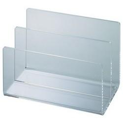 Maul bac à cartes en acrylique avec 2 compartiments