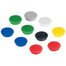 Franken haftmagnet, haftkraft: 300 g, durchm. 24 mm, blau