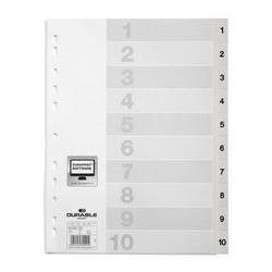 Durable intercalaire en plastique, numérique, a4, 20 touches