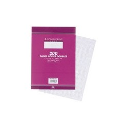 Conquerant sept copies doubles 170 x 220 mm,séyès, 200 pages