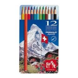 Caran d'ache crayons de couleur prismalo, boîte métal de 12