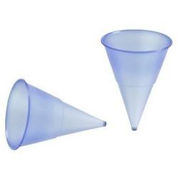 Papstar kunststoff-spitzbecher, blau-transparent, 115 ml