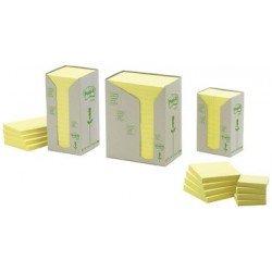 3m post-it bloc-notes adhésif recyclable, 38 x 51 mm, jaune (LOT DE 24)