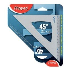 Maped équerre 45 degrés, en aluminium