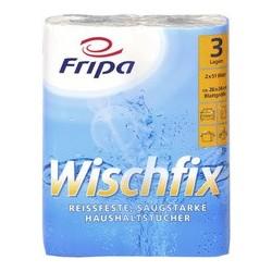 Fripa rouleau d'essuie-tout wischfix, 3 couches, extra blanc