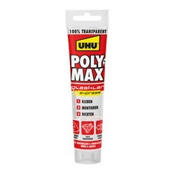 Uhu colle d'ètanchéité polymax express, transparent, 115 g