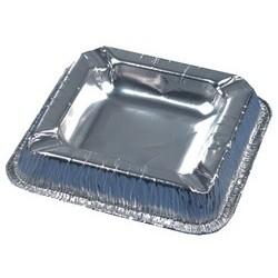 Papstar aluminium-aschenbecher, quadratisch