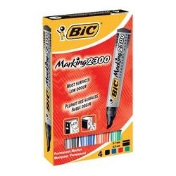 Bic marqueur permanent marking 2300, pointe biseautée, étui