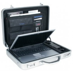 "Alumaxx attaché-case pour laptop""mercato"", aluminium, argent"