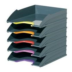 Durable briefablage-set varicolor, grau / farbiger verlauf