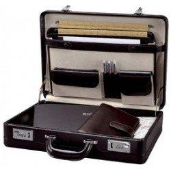 Alassio attaché-case taormina, cuir, noir