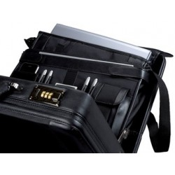 "Alassio attaché-case ""modica"", similicuir / nylon, noir"