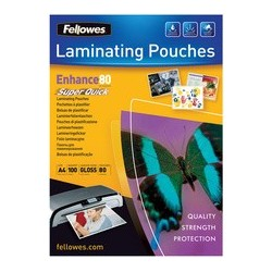 Fellowes pochette à plastifier super quick, a4, 250 microns
