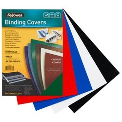 Fellowes couverture chromolux, brillante, a4, noir
