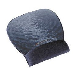 3m repose-poignet gel avec tapis de souris, blue water/bleu