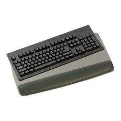 3m repose-poignet gel avec support-clavier, noir, coussinet