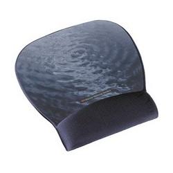 3m repose-poignet gel avec tapis de souris, noir/argent