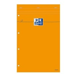 Oxford bloc notes, 210 x 315, quadrillé, 80 feuilles, orange