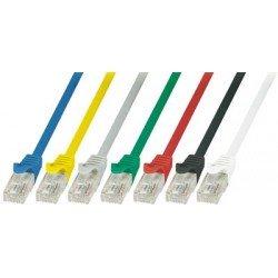 Logilink câble réseau econline, cat. 6, u/utp, 0,25m, rouge