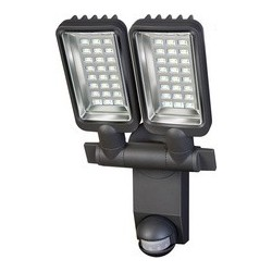 Brennenstuhl led-strahler duo premium city sv5405 pir, ip 44